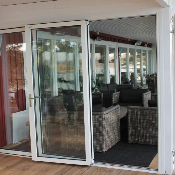 Glasdörr uterum