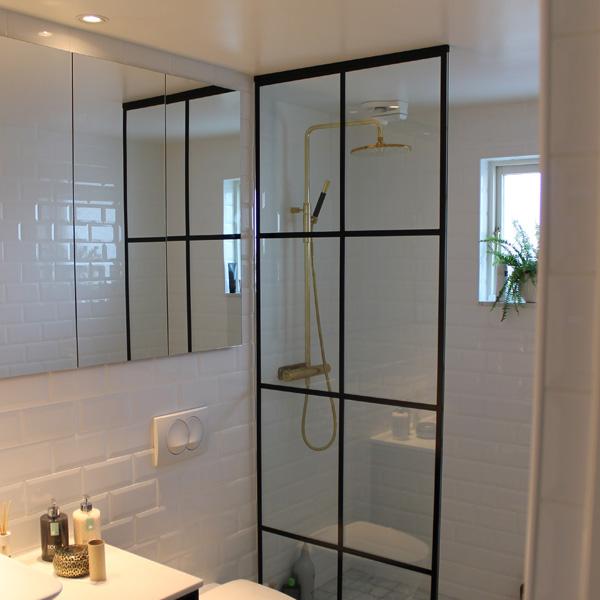 Populära Duschväggar i glas för badrum | Bålsta Idéglas JU-55